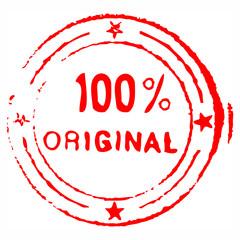 Hundred percent original grungy ink stamp