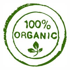 Hundred percent organic grungy ink stam