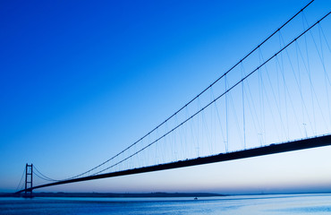 humber bridge blue sky