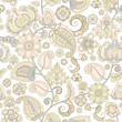 seamless pattern with flower ornament
