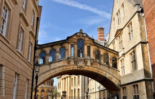 Leinwanddruck Bild Bridge of Sighs, Oxford, UK