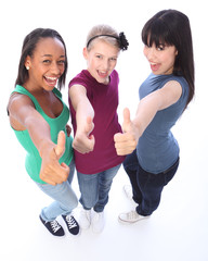 Student success for ethnic teenage girl friends