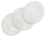 Cotton round cosmetic pads, isolated on white
