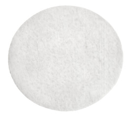 One round cotton cosmetic pad, isolated on white