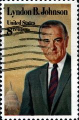 Lyndon B. Johnson.  United States. Postage.
