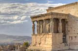 Caryatids in Erechtheum, Acropolis,Athens,Greece poster