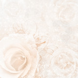 Fototapety beige wedding background with roses