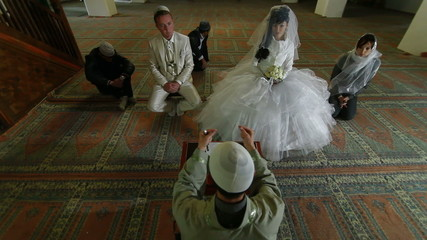 Wedding Ceremony of Crimean Tatars in Mosque