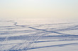 Ski tracks on frozen Gulf of Finland. - 36181050