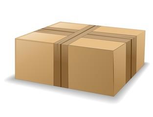 Scatola di Cartone Chiusa-Pacco Postale-Cardboard Box