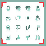Social and communication icons | In a frame series
