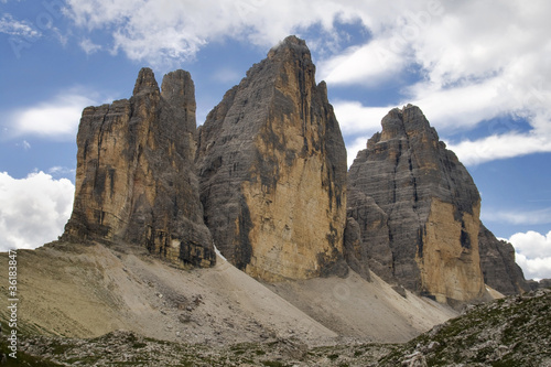 North face of Tre Cime di Lavaredo