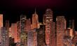 Skyline at night - panoramic image