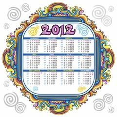 2012 floral calendar starts Sunday
