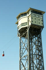 San Sebastian Tower. Funicular of Barcelona,