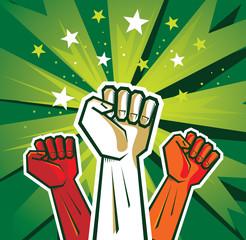 revolution hand poster