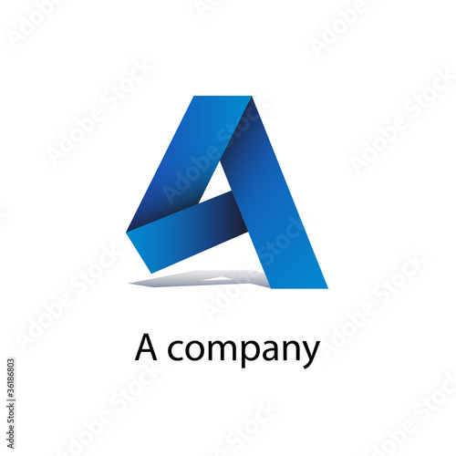 Logo strip letter A # Vector