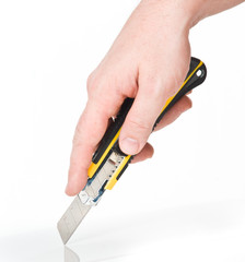 hand with cutter