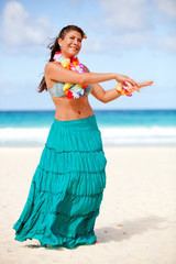 Hawaiian woman dancing