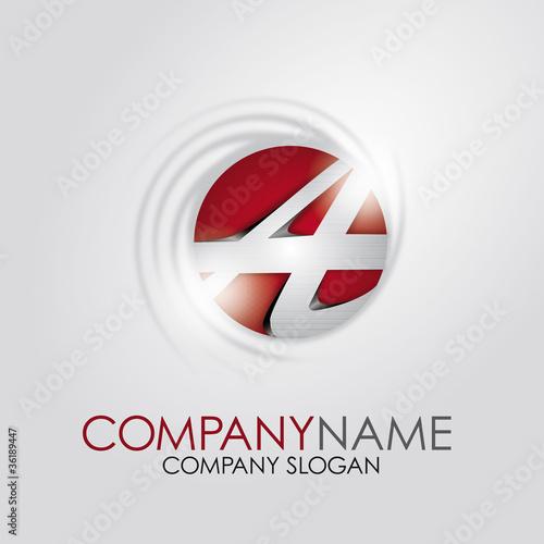 Alphabet Logo Corporate Marke Firmenlogo, initial letter A 3D