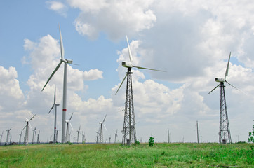 Wind turbines farm, Ukraine