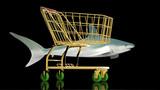 Shopping cart for a shark buyer poster