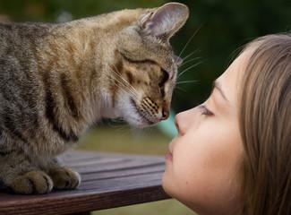 chatte bienveillante