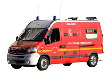 Véhicule ambulance ' VSAB' des sapeurs pompiers
