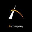 Logo letter A  orbit # Vector