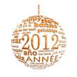 2012, boule dorée dans toutes les langues