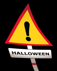 halloween scary road sign