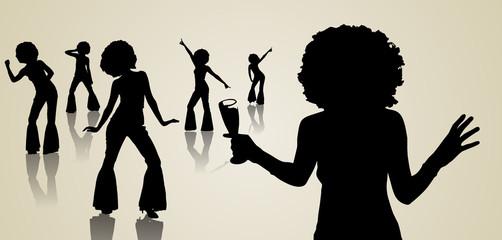Disco - silhouette danse - reine du dancefloor