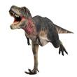 tarbosaurus running - 36196255