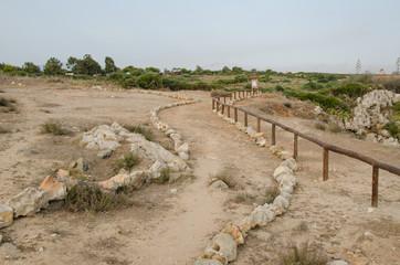 Strada con steccato