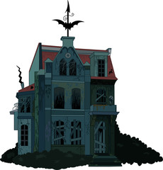 Spooky haunted   house