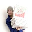 beladener pizzalieferant