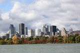 Montreal skyline in autumn, Quebec, Canada