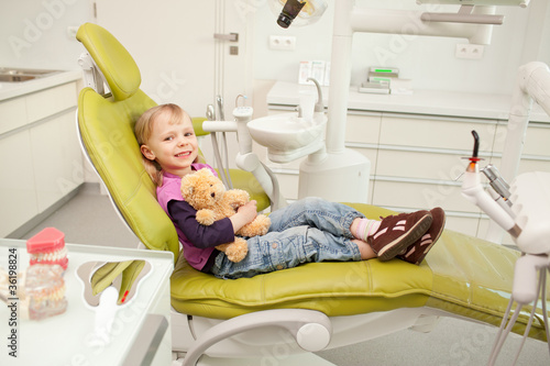 girl in dentist office