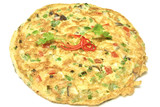 Thai omelet with tomato and onion