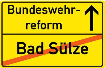 Schild Bundeswehrreform Bad Sülze