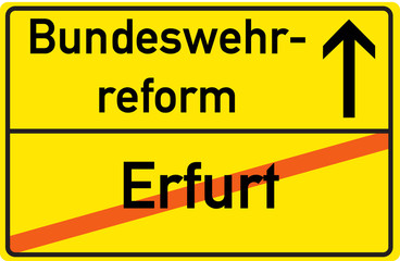 Schild Bundeswehrreform Erfurt