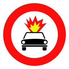 Trasporto di materiale infiammabile vietato