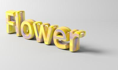 3D Flower text
