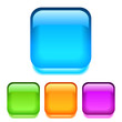 Glass square buttons, vector illustration