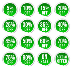 discount labels - green pack