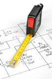 Circuit diagram and tape measure