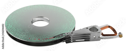 hard disk platter and actuator arm
