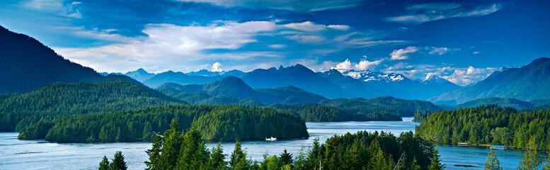 Panoramiczny widok Tofino, Vancouver Island, Stany Zjednoczone Ameryki