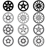 automotive wheel with alloy wheels poster