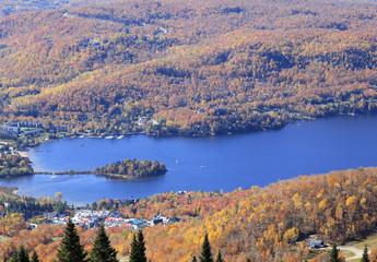 Mont Tremblant Lake in autumn, Quebec, Canada